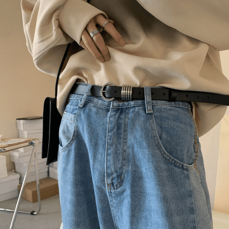 Ремень Attitude Studio Faux Leather Belt Metal Rings Design (4)