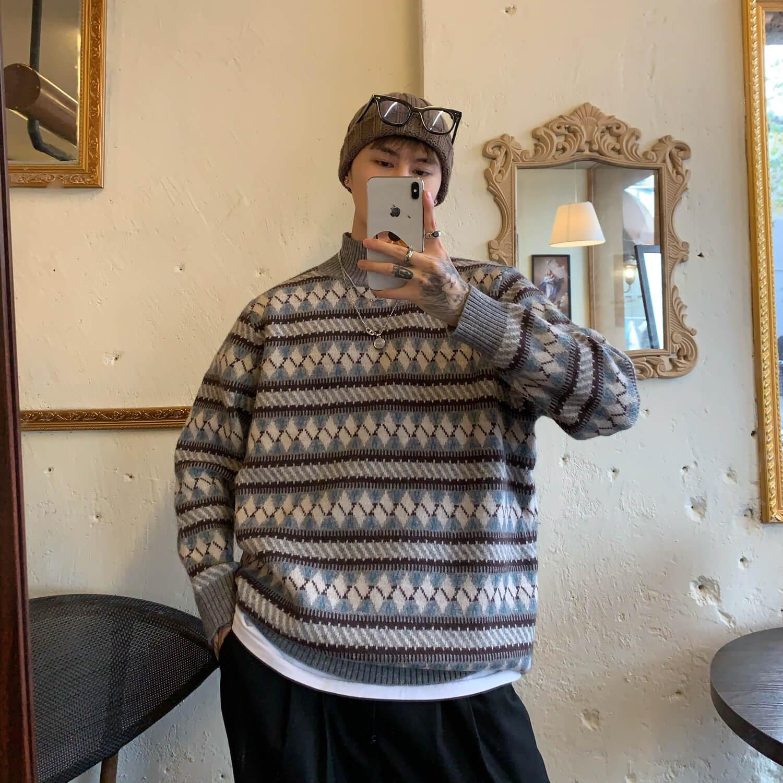 Свитер Cui Layout Studio Geometric Jacquard Sweater
