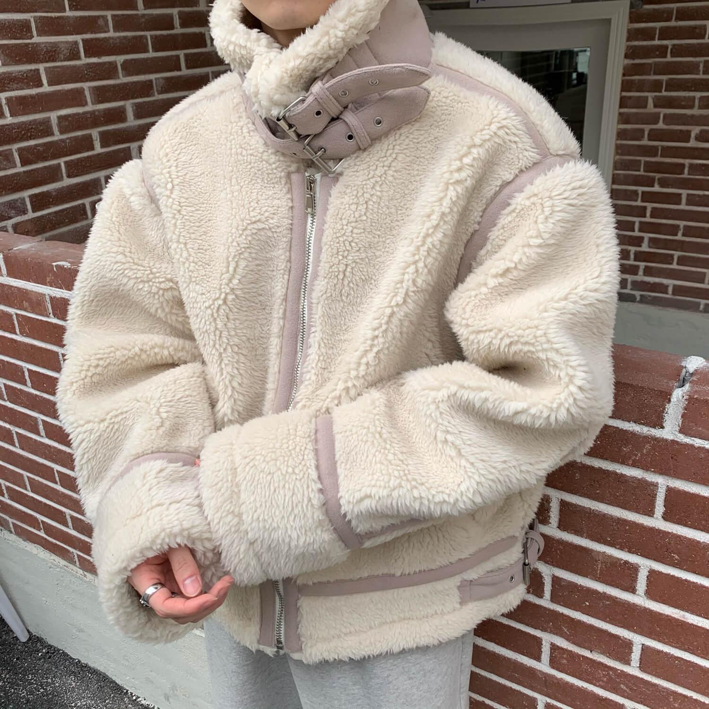 Дублёнка Cui Layout Studio Sherpa Sheepskin Coat Design Lines