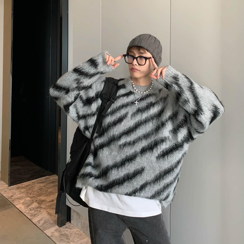 Свитер Cui Layout Studio Animal Pattern Mohair Sweater