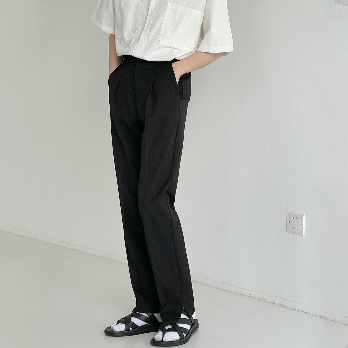 Брюки DAZO Studio Straight Formal Pants Split Bottom (1)