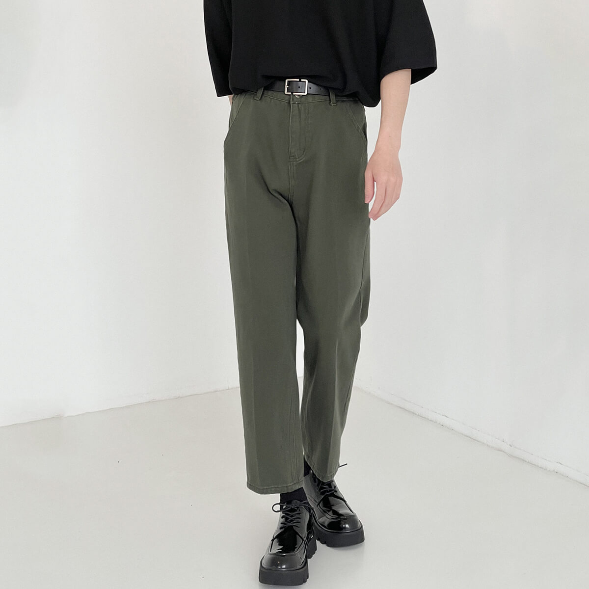 Брюки DAZO Studio Swamp Shade Straight Neat Pants (2)