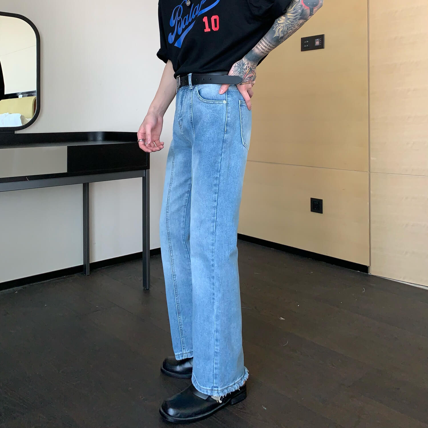 Джинсы Cui Layout Studio Jeans With Seams Raw Material (2)