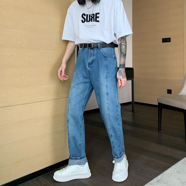 Джинсы Cui Layout Studio Straight Jeans Linear Design (1)