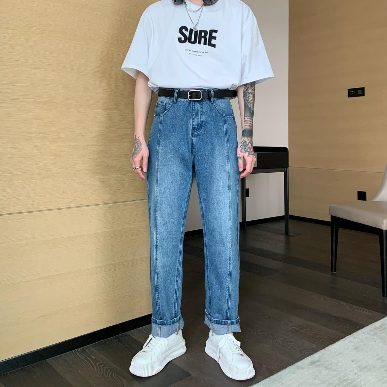 Джинсы Cui Layout Studio Straight Jeans Linear Design (2)