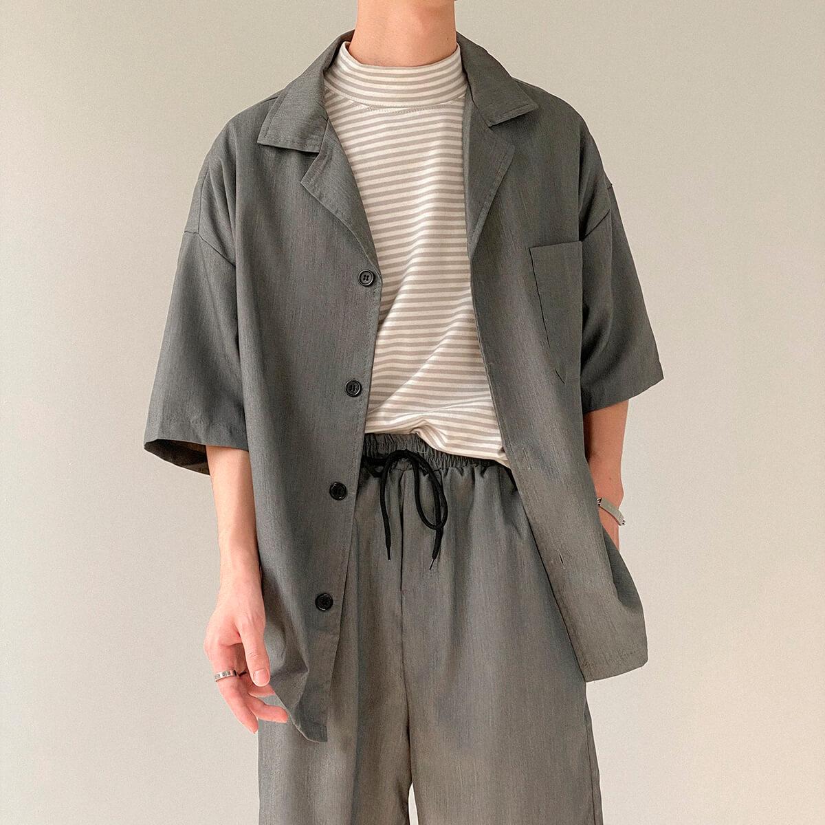 Костюм DAZO Studio Casual Suit Shirt & Shorts (12)