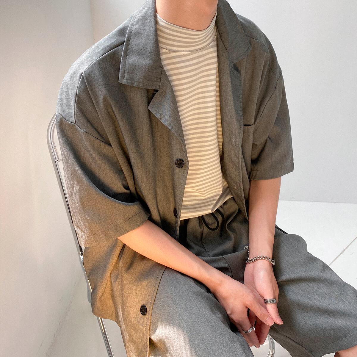 Костюм DAZO Studio Casual Suit Shirt & Shorts (14)