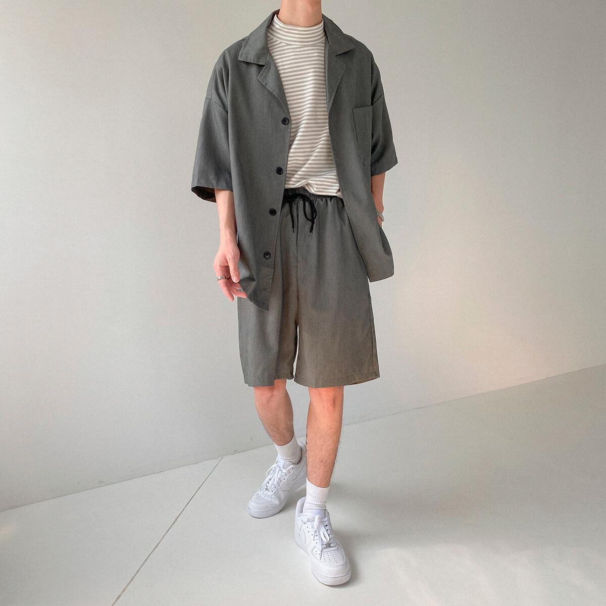 Костюм DAZO Studio Casual Suit Shirt & Shorts (8)