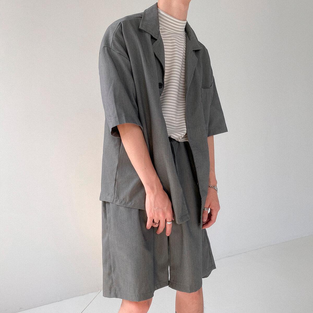 Костюм DAZO Studio Casual Suit Shirt & Shorts (9)