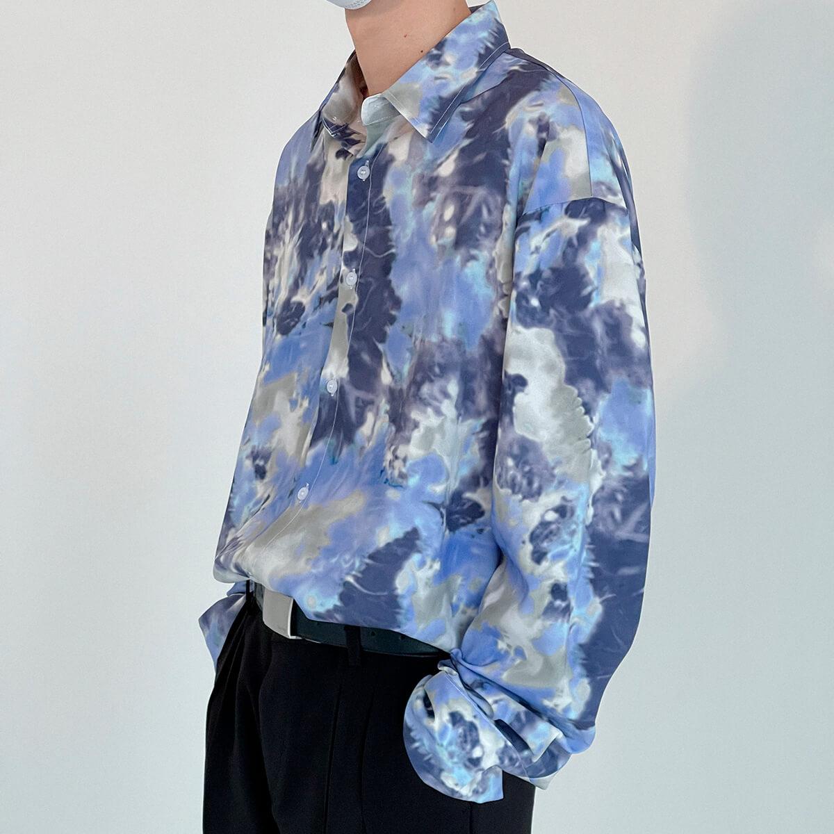 Рубашка DAZO Studio Tai Dai Long Sleeve Shirt (1)