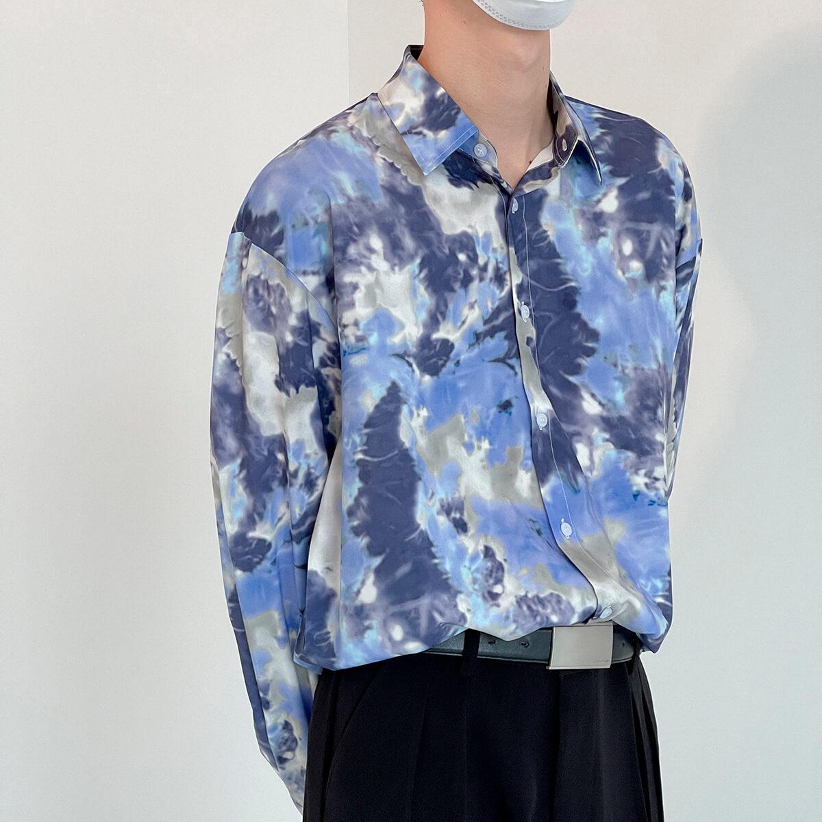 Рубашка DAZO Studio Tai Dai Long Sleeve Shirt (3)