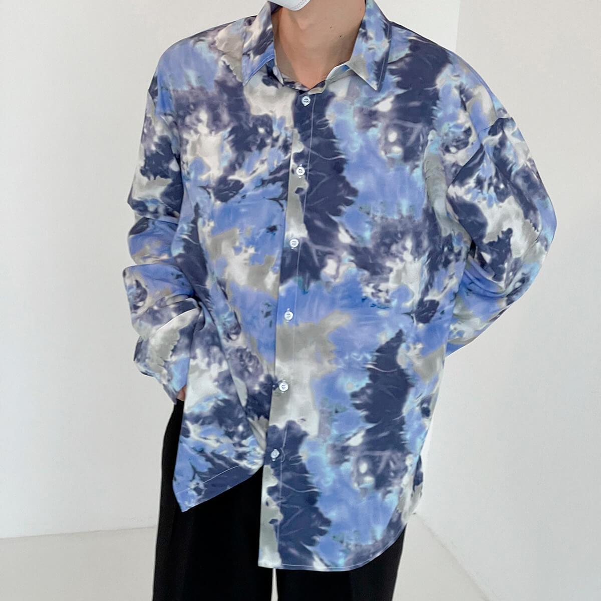 Рубашка DAZO Studio Tai Dai Long Sleeve Shirt (4)
