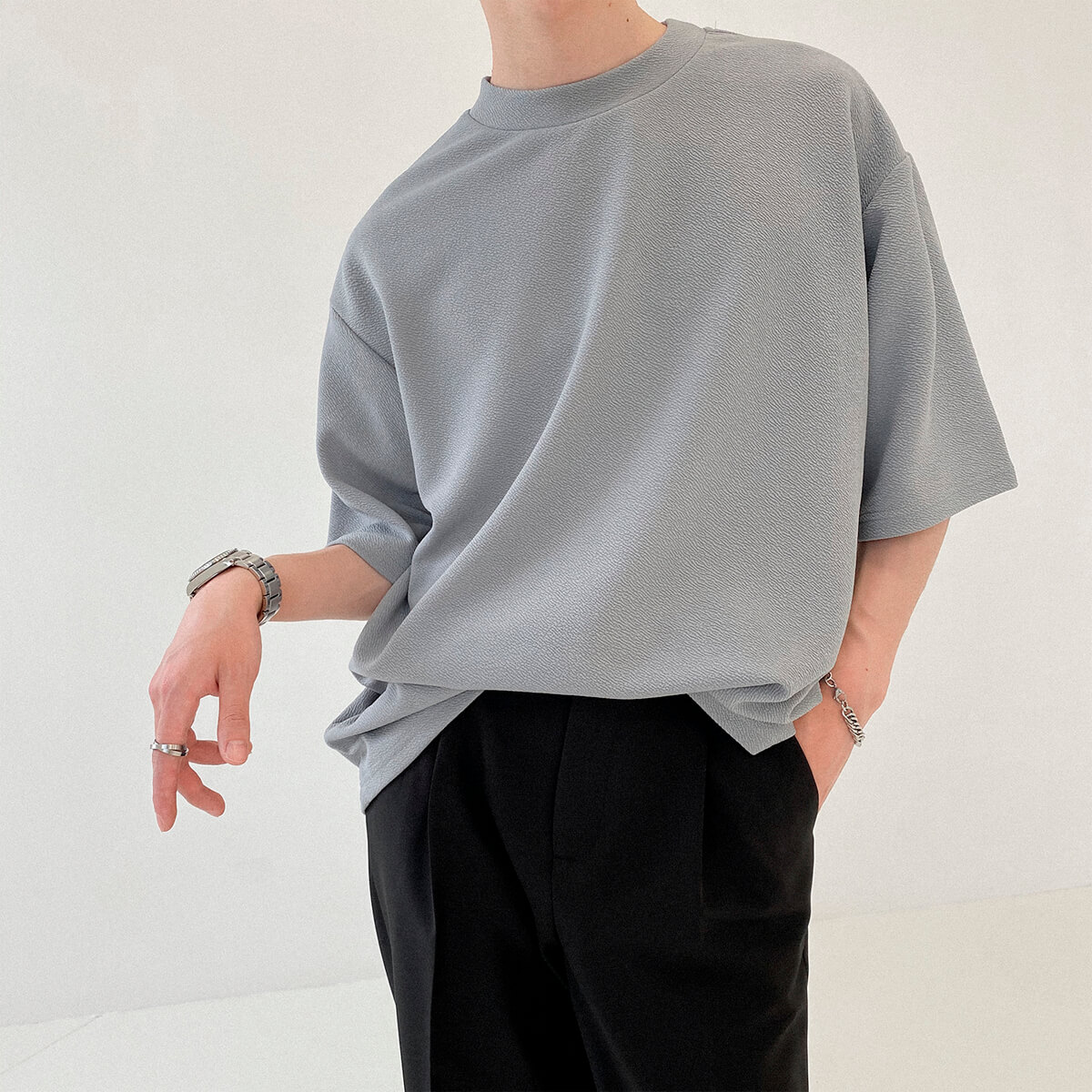 Футболка DAZO Studio Special Texture Chiffon T-Shirt (1)