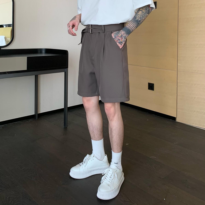 Шорты Cui Layout Studio Basic Double Belt Shorts (1)