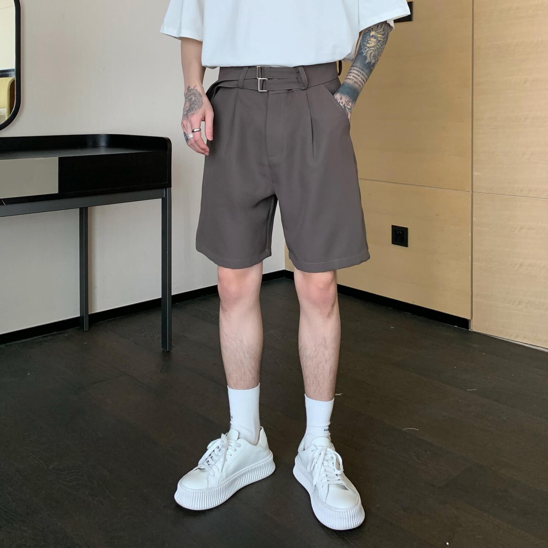 Шорты Cui Layout Studio Basic Double Belt Shorts (2)