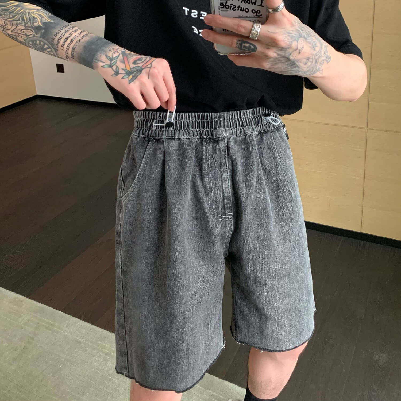Шорты Cui Layout Studio Drawstring Jeans Raw Hem (1)