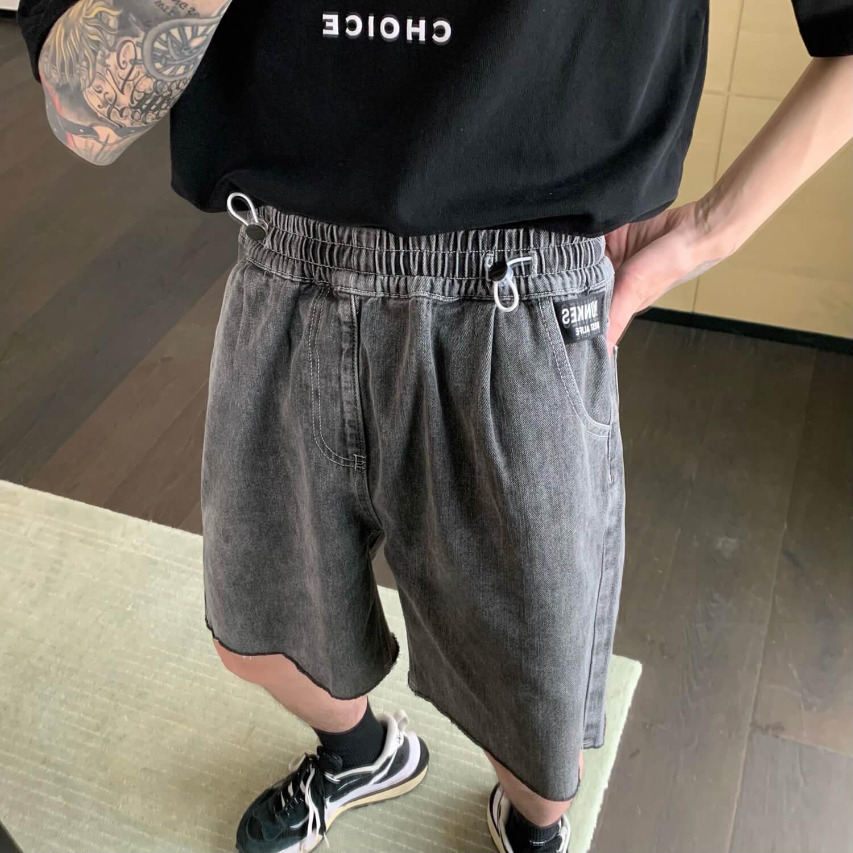 Шорты Cui Layout Studio Drawstring Jeans Raw Hem (2)