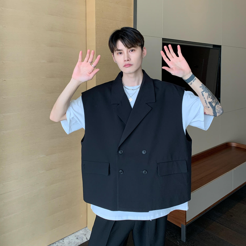 Блейзер-жилет Cui Layout Studio Double Breasted Blazer Vest (10)
