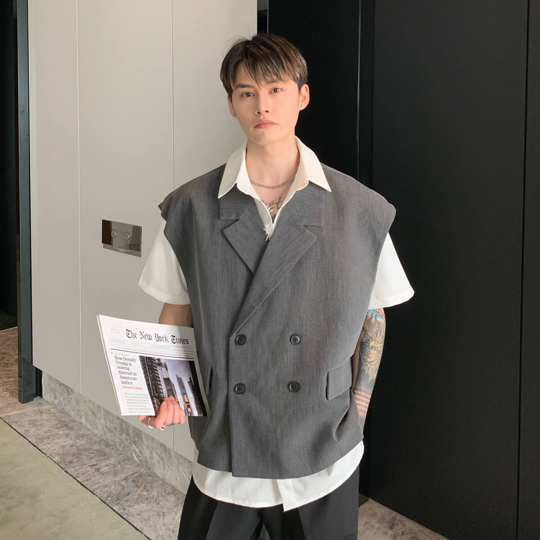 Блейзер-жилет Cui Layout Studio Double Breasted Blazer Vest (3)
