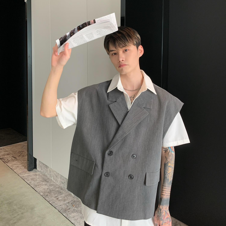 Блейзер-жилет Cui Layout Studio Double Breasted Blazer Vest (4)
