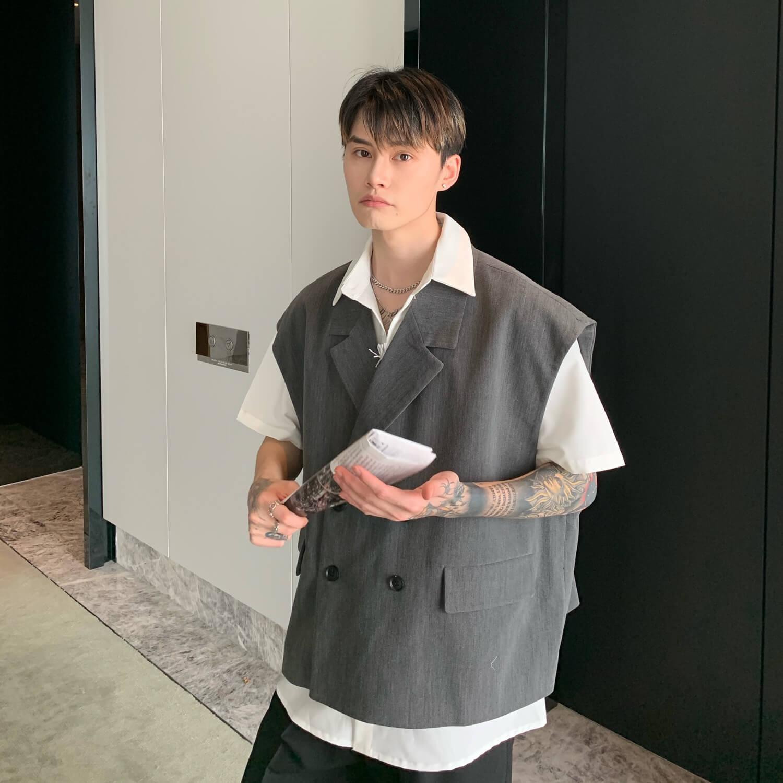 Блейзер-жилет Cui Layout Studio Double Breasted Blazer Vest (5)