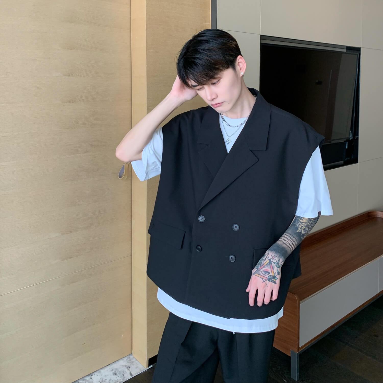 Блейзер-жилет Cui Layout Studio Double Breasted Blazer Vest (8)