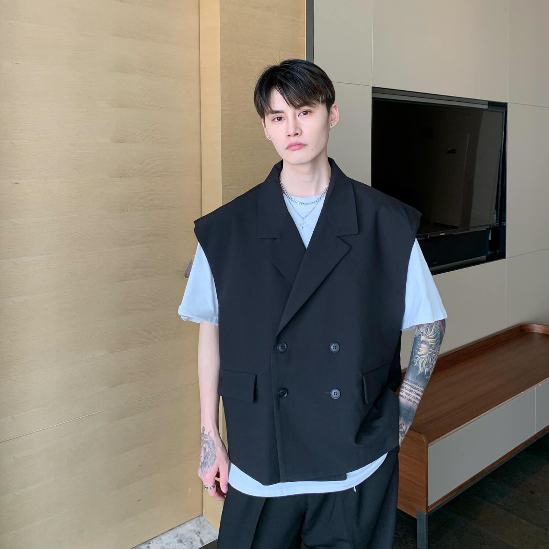 Блейзер-жилет Cui Layout Studio Double Breasted Blazer Vest (9)