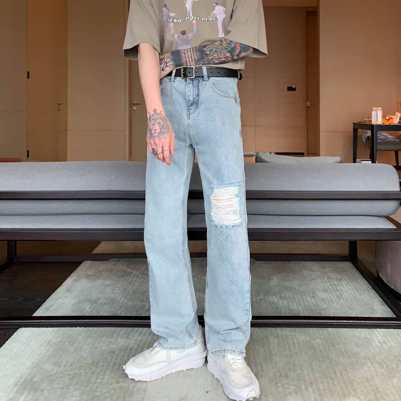 Джинсы Cui Layout Studio Jeans Custom Ripped Trim (2)