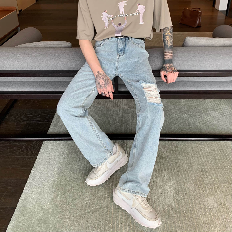 Джинсы Cui Layout Studio Jeans Custom Ripped Trim (6)