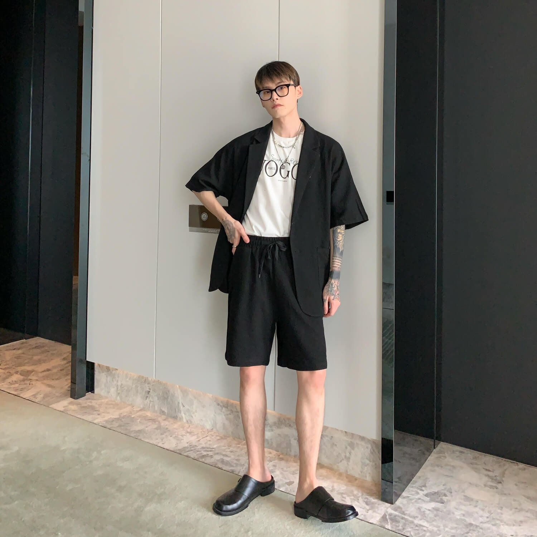 Костюм Cui Layout Studio Waffle Suit Shirt & Shorts (2)