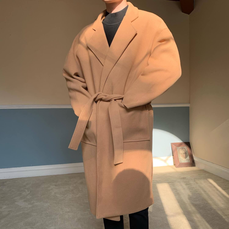Пальто Cui Layout Studio Woolen Winter Coat With Belt (1)
