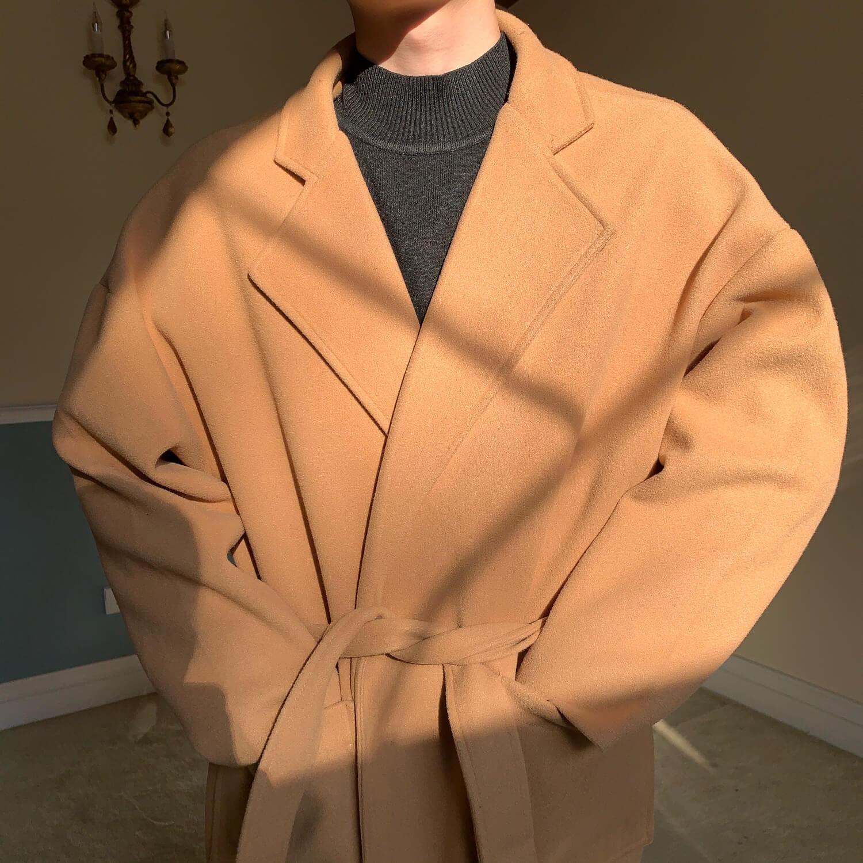 Пальто Cui Layout Studio Woolen Winter Coat With Belt (2)