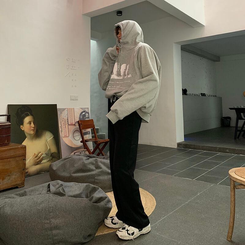 Худи Cui Layout Studio Hoodie Print Faceless Crowd Gray (2)