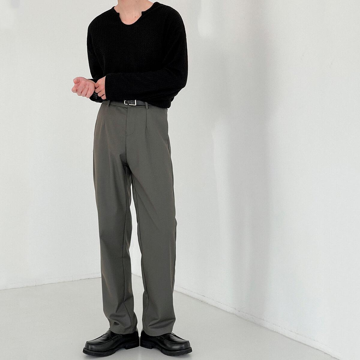 Брюки DAZO Studio Basic Dark Straight Pants (5)