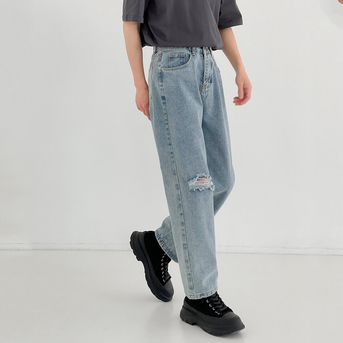 Джинсы DAZO Studio Straight Light Jeans Ripped Element (1)