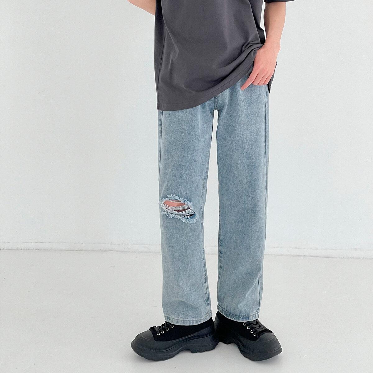 Джинсы DAZO Studio Straight Light Jeans Ripped Element (2)