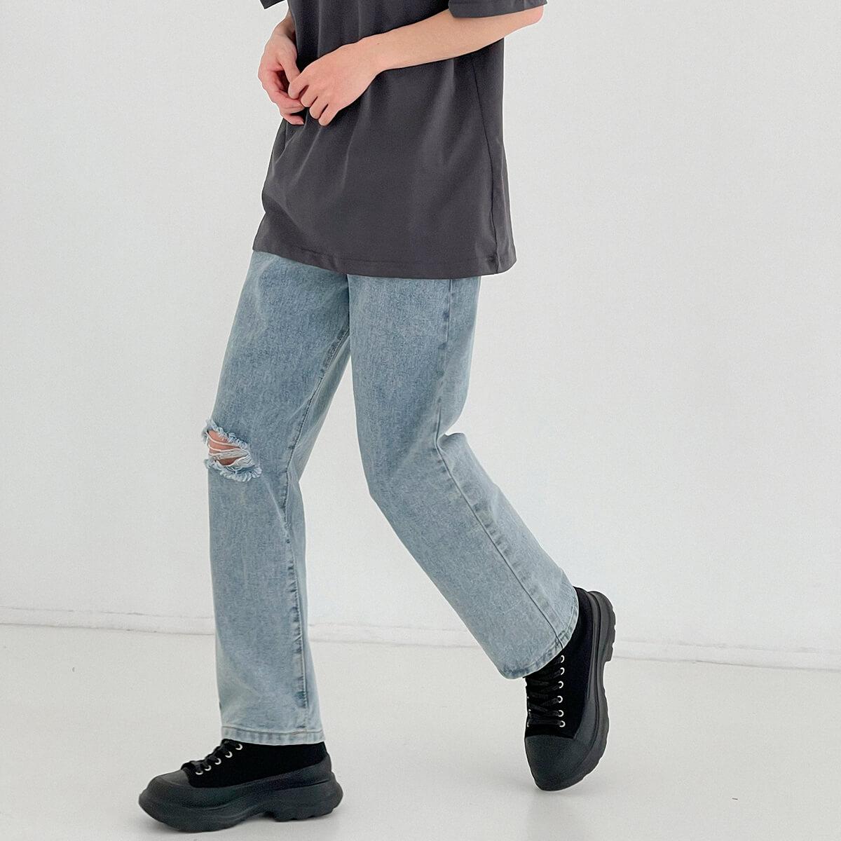 Джинсы DAZO Studio Straight Light Jeans Ripped Element (5)