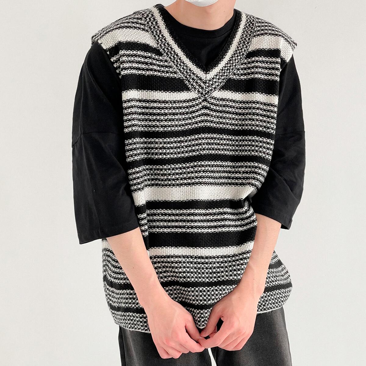 Жилет DAZO Studio Striped Knit Vest (1)