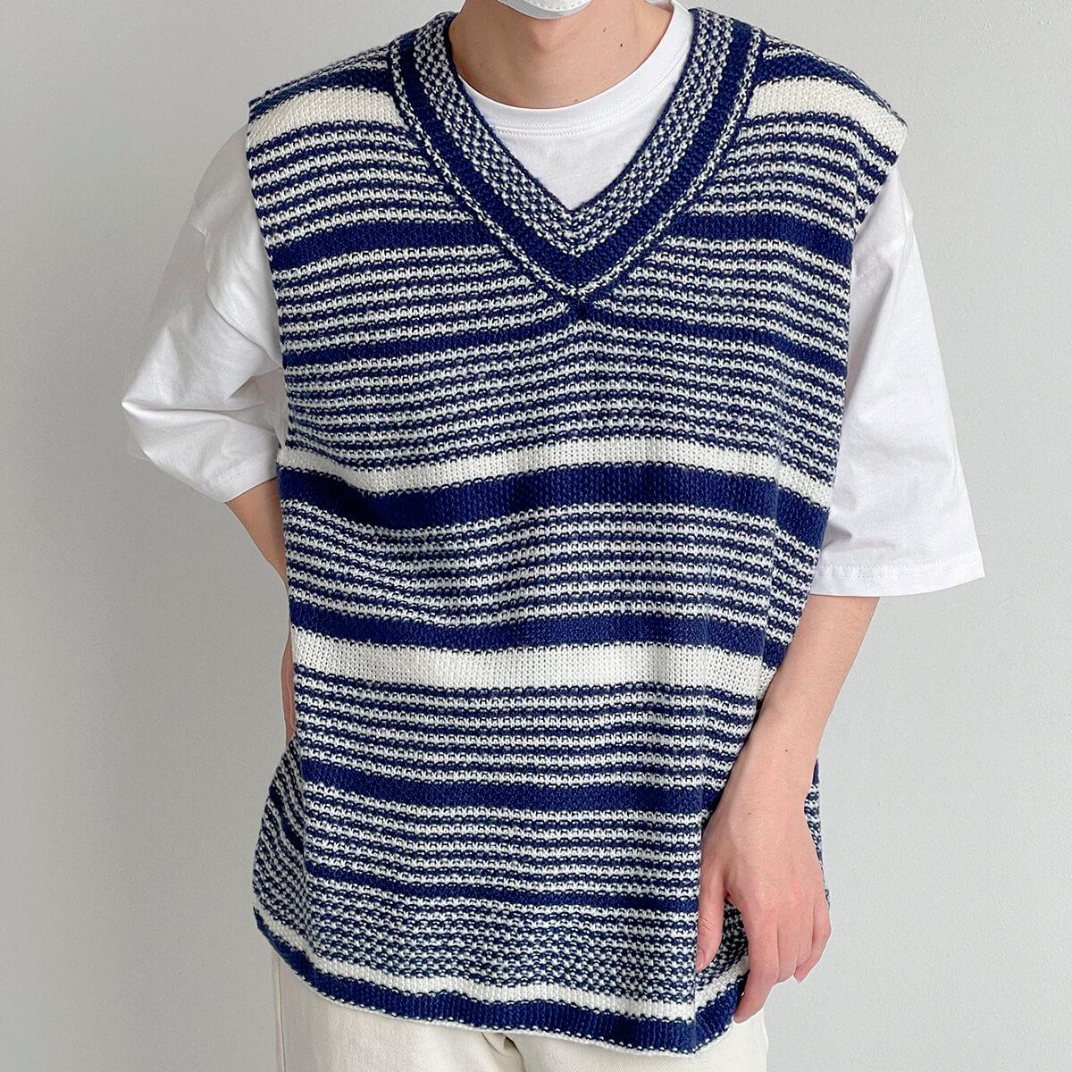 Жилет DAZO Studio Striped Knit Vest (6)