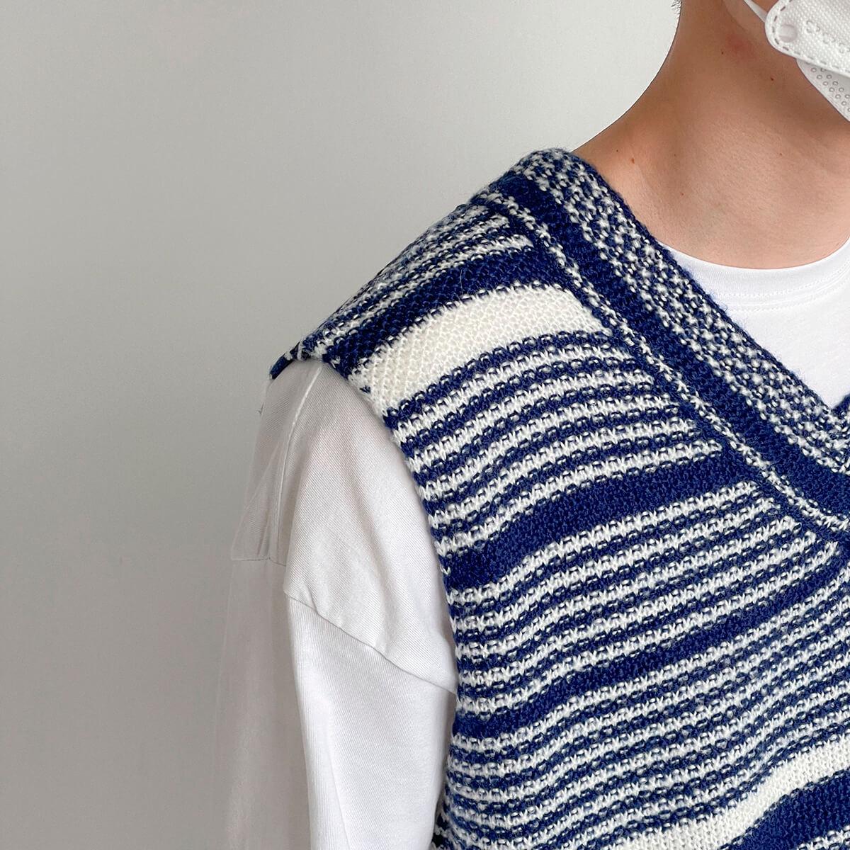 Жилет DAZO Studio Striped Knit Vest (7)