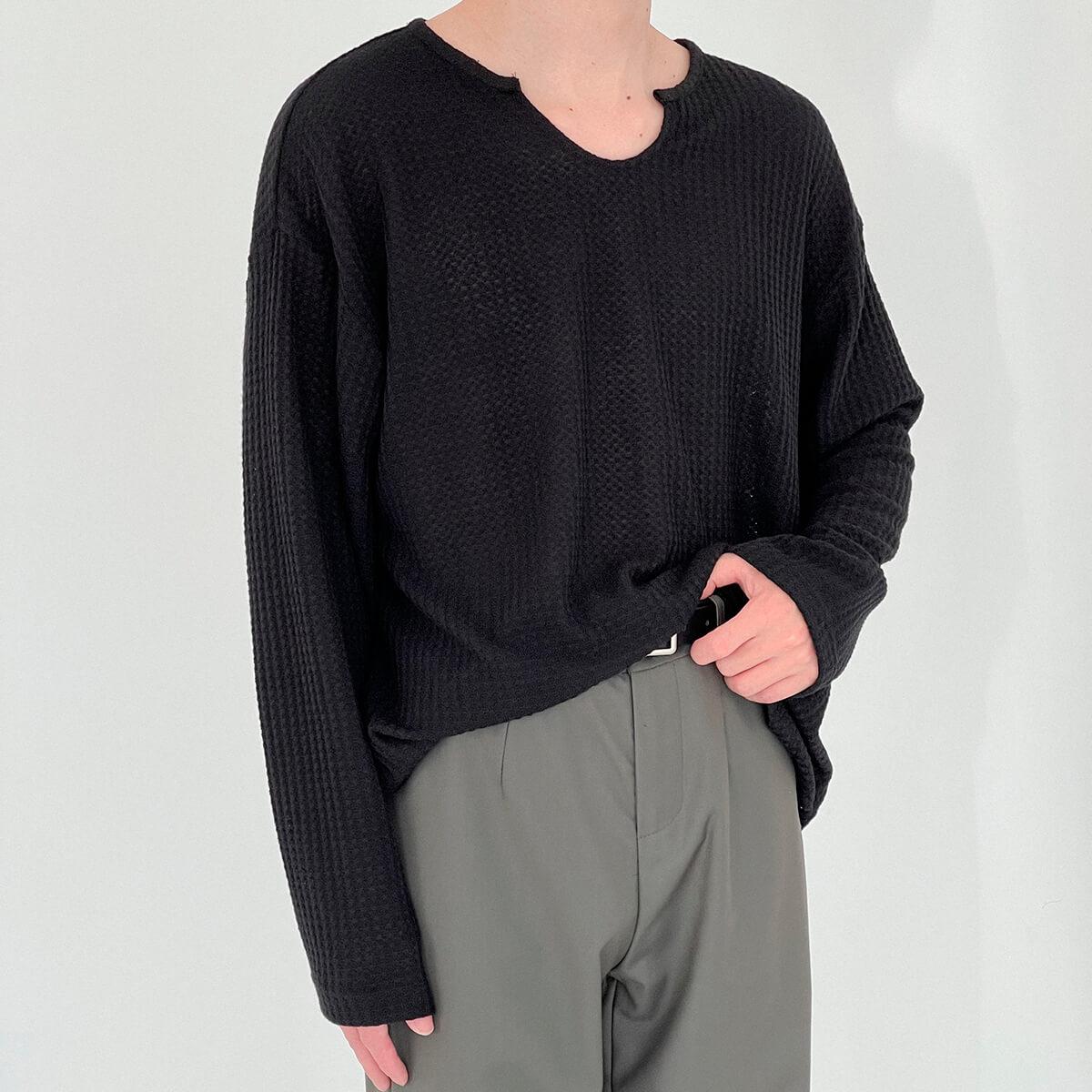 Лонгслив DAZO Studio Textured Long Sleeve Custom Neckline (11)