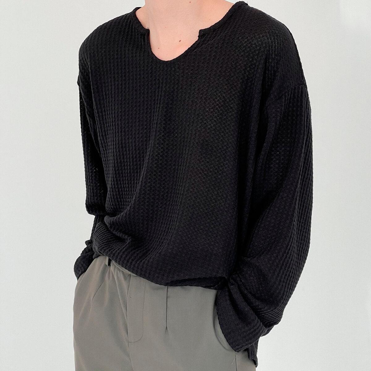 Лонгслив DAZO Studio Textured Long Sleeve Custom Neckline (14)