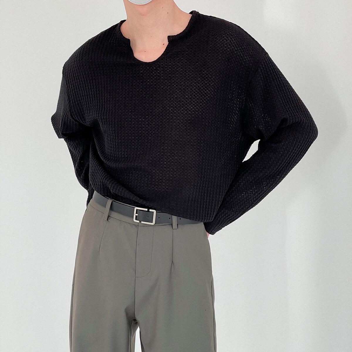 Лонгслив DAZO Studio Textured Long Sleeve Custom Neckline (15)