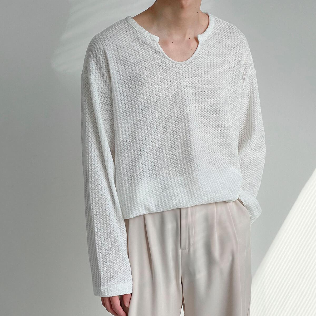 Лонгслив DAZO Studio Textured Long Sleeve Custom Neckline (6)
