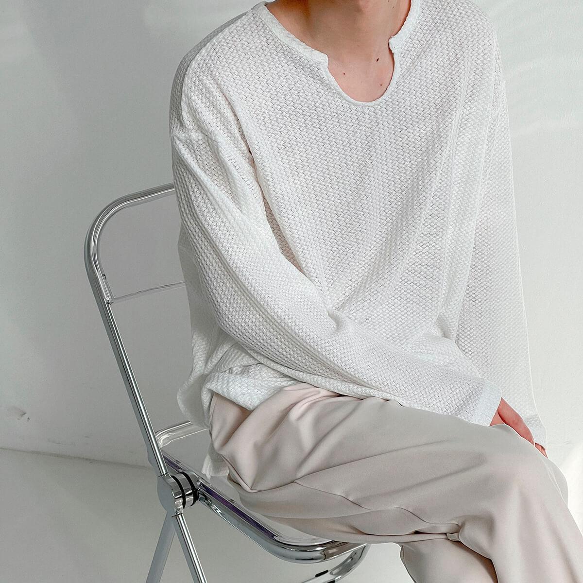 Лонгслив DAZO Studio Textured Long Sleeve Custom Neckline (7)
