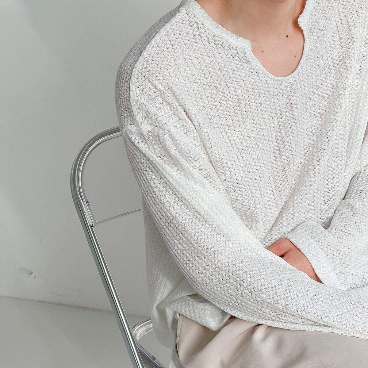 Лонгслив DAZO Studio Textured Long Sleeve Custom Neckline (8)