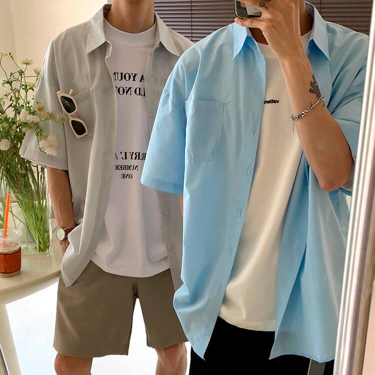 Рубашка Attitude Studio Shirt Minimalism Vertical Striped (1)