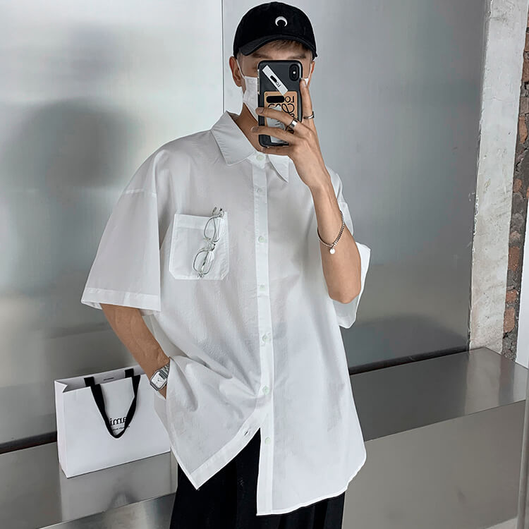 Рубашка Attitude Studio Shirt Minimalism Vertical Striped (16)