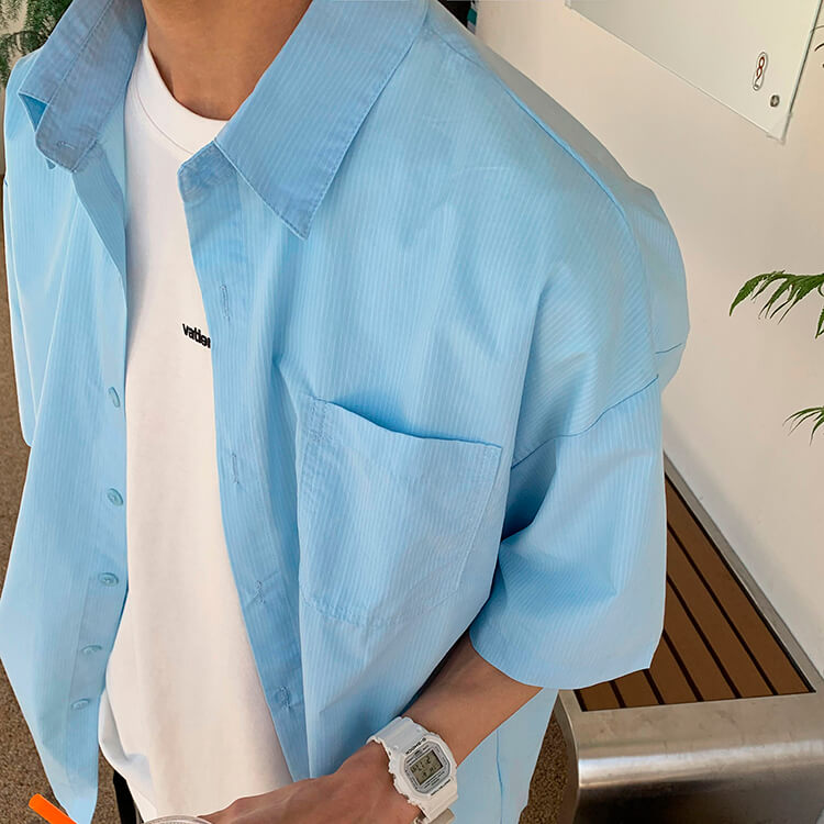 Рубашка Attitude Studio Shirt Minimalism Vertical Striped (3)