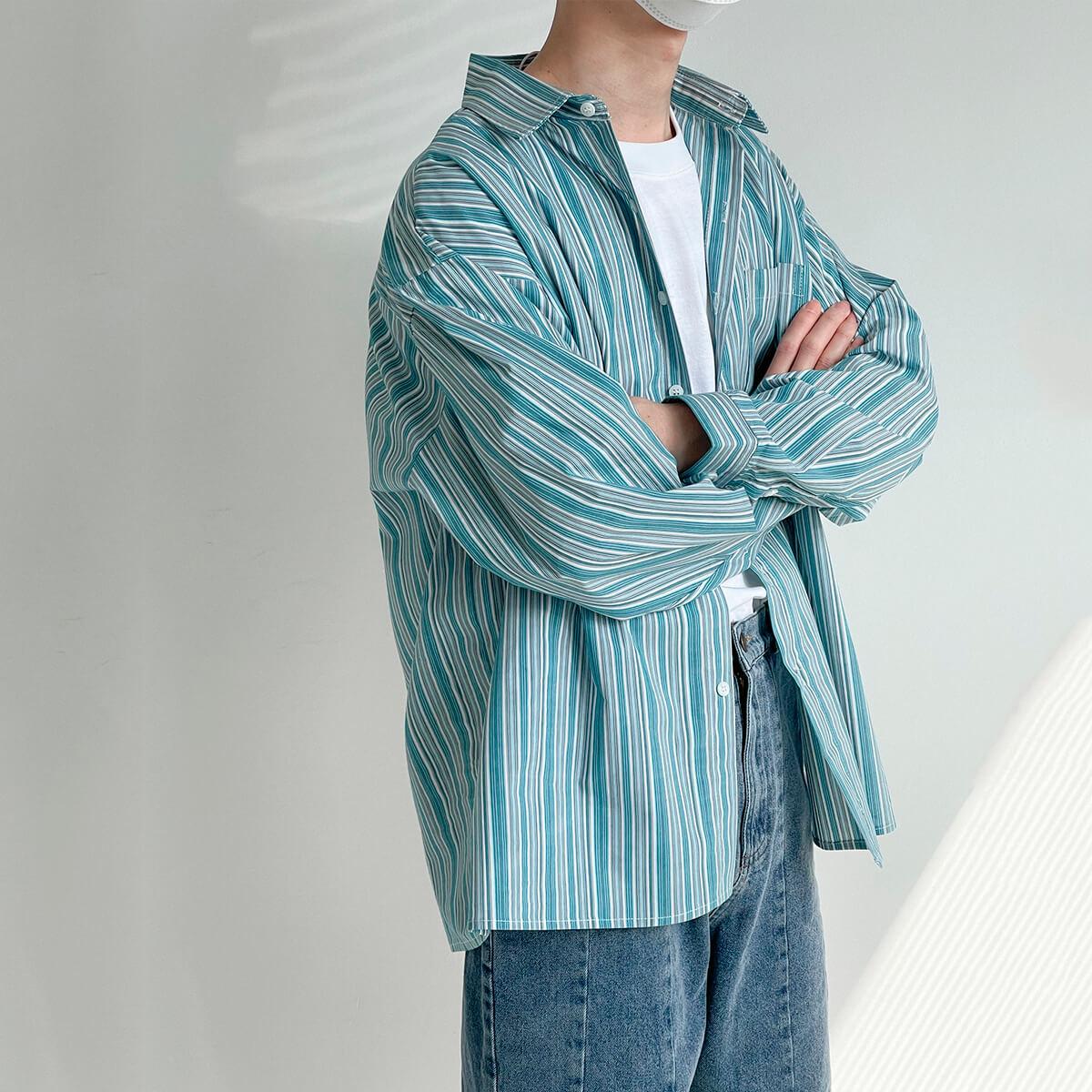 Рубашка DAZO Studio Long Sleeve Striped Shirt (1)